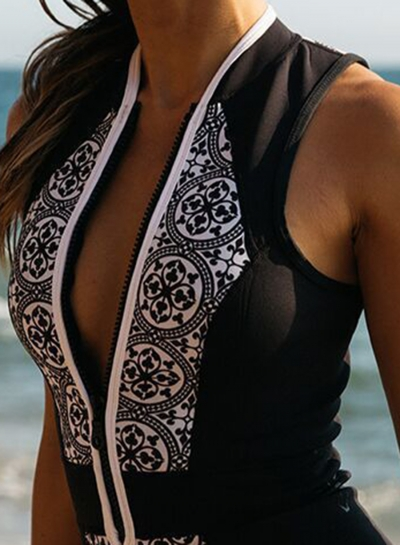 women-s-vintage-skinny-fit-front-zipper-printed-swimsuit